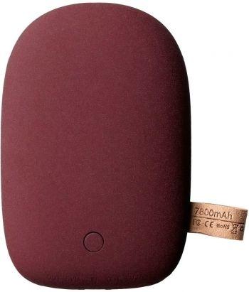 Универсальный внешний аккумулятор «Pebble» 7800 mAh, бордовый