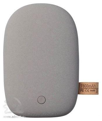 Универсальный внешний аккумулятор «Pebble» 7800 mAh, серый