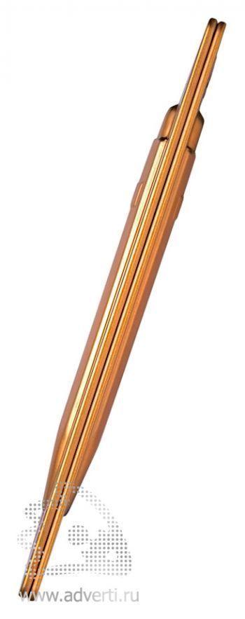 Ручка шариковая «Office Goldbar», футляр сбоку