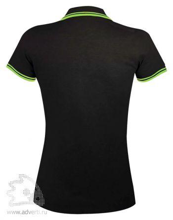 Рубашка поло « Pasadena women 200», женская с контрастной отделкой, Sol's, Франция, вид спины