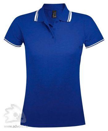 Рубашка поло «Pasadena women 200», женская, ярко-синяя с белым