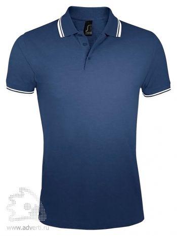 Рубашка поло «Pasadena women 200», женская, темно-синяя с белым