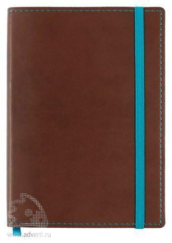 Блокнот «Vivid Colors» в мягкой обложке, коричневый