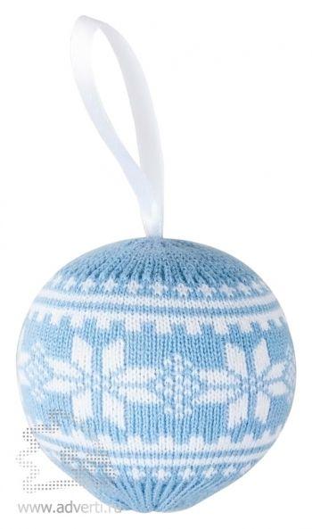 Шар новогодний «Скандик», голубой