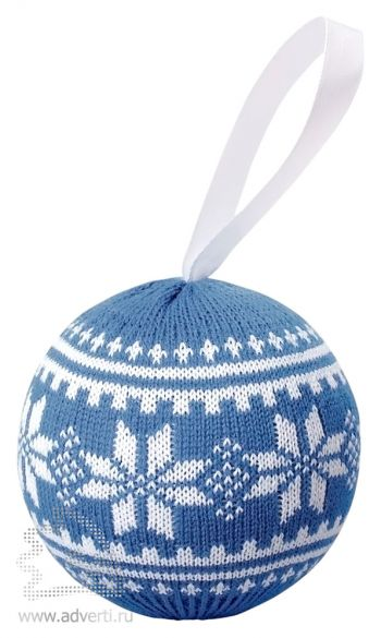 Шар новогодний «Скандик», светло-синий
