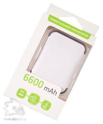 Универсальный внешний аккумулятор 6600 mAh, упаковка