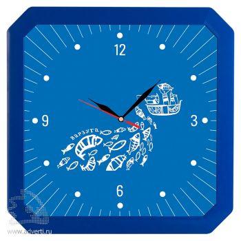 Часы настенные «Квадро», синие
