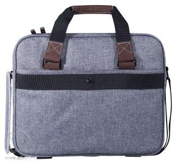 """Конференц-сумка «Барбадос» с отделением для ноутбука 15"""", обратная сторона"""