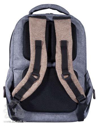"""Рюкзак «Канкун» с отделением для ноутбука 15"""", вид сзади"""