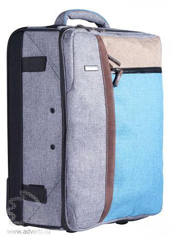 Складной чемодан на колесах «Санто-Доминго», вид сбоку