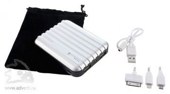 Универсальный внешний аккумулятор «Frequent Flyer PowerBank» 8800 mAh, набор переходников