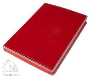 Ежедневник «FreeNote», красный, вид сверху