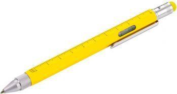 Ручка шариковая «Construction» (TROIKA), мультиинструмент, желтая