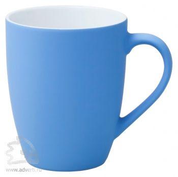 Кружка «Good morning» c прорезиненным покрытием, голубая