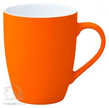 Кружка «Good morning» c прорезиненным покрытием, оранжевая