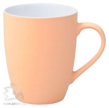 Кружка «Good morning» c прорезиненным покрытием, светло-розовая