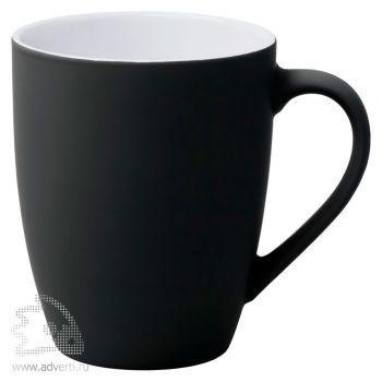 Кружка «Good morning» c прорезиненным покрытием, черная