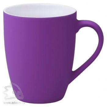 Кружка «Good morning» c прорезиненным покрытием, фиолетовая