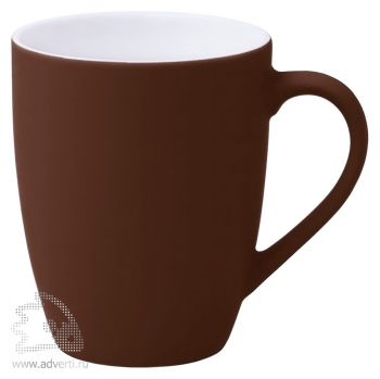 Кружка «Good morning» c прорезиненным покрытием, коричневая
