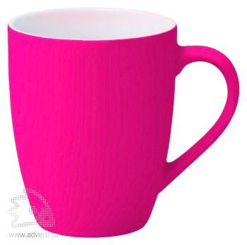 Кружка «Good morning» c прорезиненным покрытием, розовая