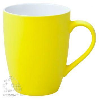 Кружка «Good morning» c прорезиненным покрытием, желтая