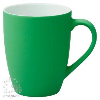 Кружка «Good morning» c прорезиненным покрытием, зеленая