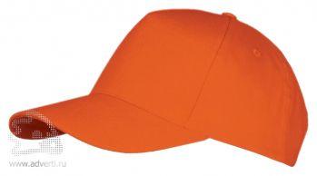 Бейсболка «Long beach», оранжевая