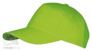 Бейсболка «Long beach», ярко-зеленая