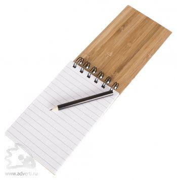 Блокнот на кольцах  «Bamboo Simple» в открытом виде
