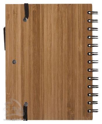 Блокнот на кольцах  «Bamboo Simple» с ручкой, оборот