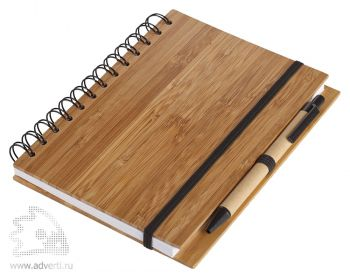 Блокнот на кольцах  «Bambook» с ручкой с ручкой