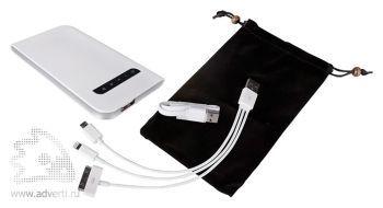 Универсальный внешний аккумулятор «Uniscend Fit » 3000 mAh, переходники