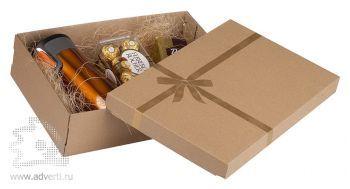 Коробка подарочная «Крафт» средняя, вместимость