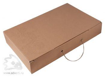 Коробка подарочная «Узор» с ручкой