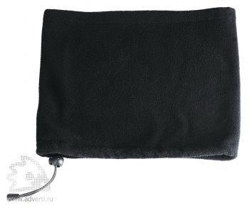 Шапка-шарф с утяжкой «Blizzard», черная