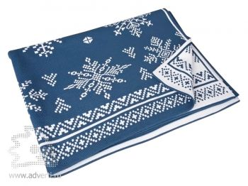 Плед «Снежинки», синий