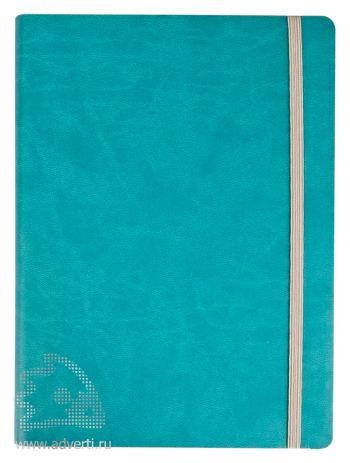 Ежедневник «Vivien» в мягкой обложке, бирюзовый