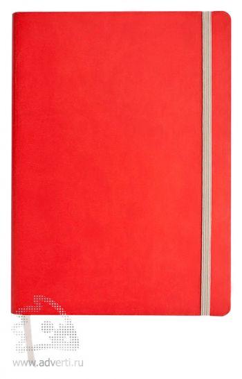 Ежедневник «Vivien» в мягкой обложке, красный