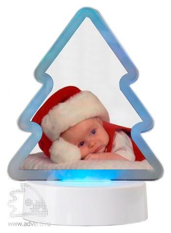 Фоторамка с подсветкой «Елочка», синяя подсветка