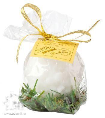 Свеча «Снежок», упаковка