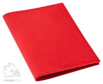 Обложка для автодокументов «Twill», красная