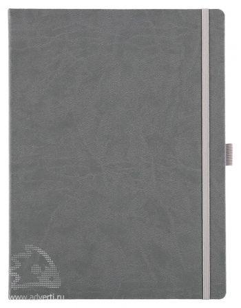 Блокнот «Freenote Maxi», серый