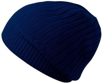Шапка «Stripes», темно-синяя