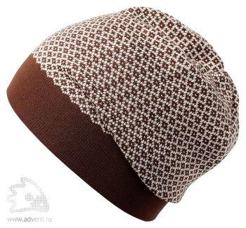 Шапка «Crown», коричневая