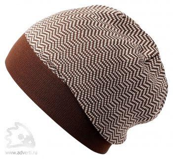 Шапка «Steps», коричневая