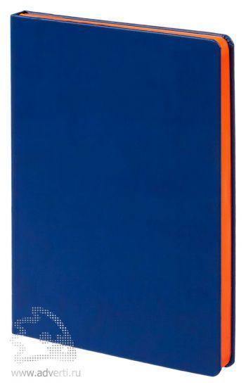 Ежедневник «Blues», синий с оранжевым