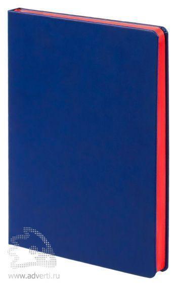 Ежедневник «Blues», синий с красным