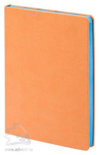 Ежедневник «Blues», коричневый с голубым