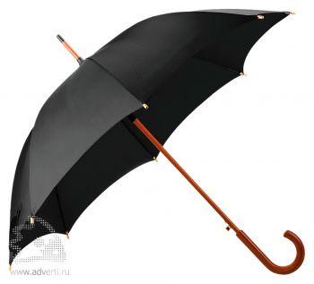 Зонт-трость «Unit Standard», полуавтомат, черный