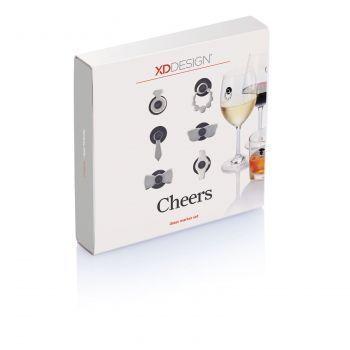 Набор маркеров для бокалов Cheers, коробка
